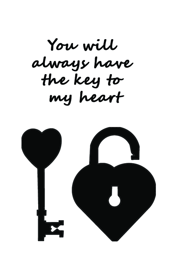 You will always have the KEY to my Heart – Sign it!