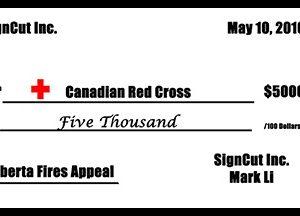 Donation  Check 6 x2